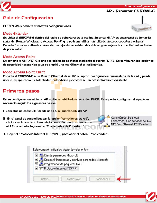 pdf for Encore Wireless Router ENH-WI-3GN3 manual