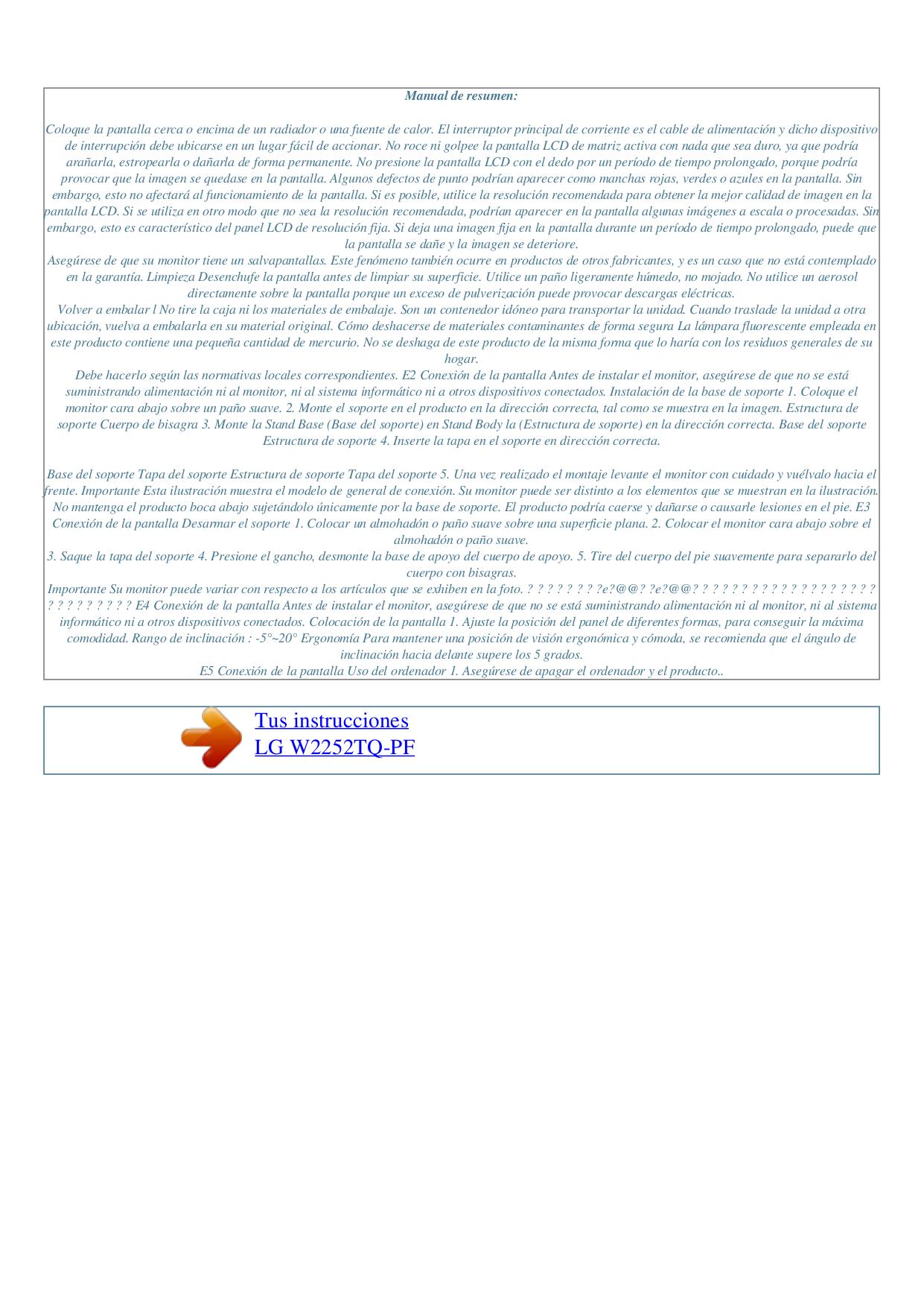 LG Monitor W2252TQ pdf page preview