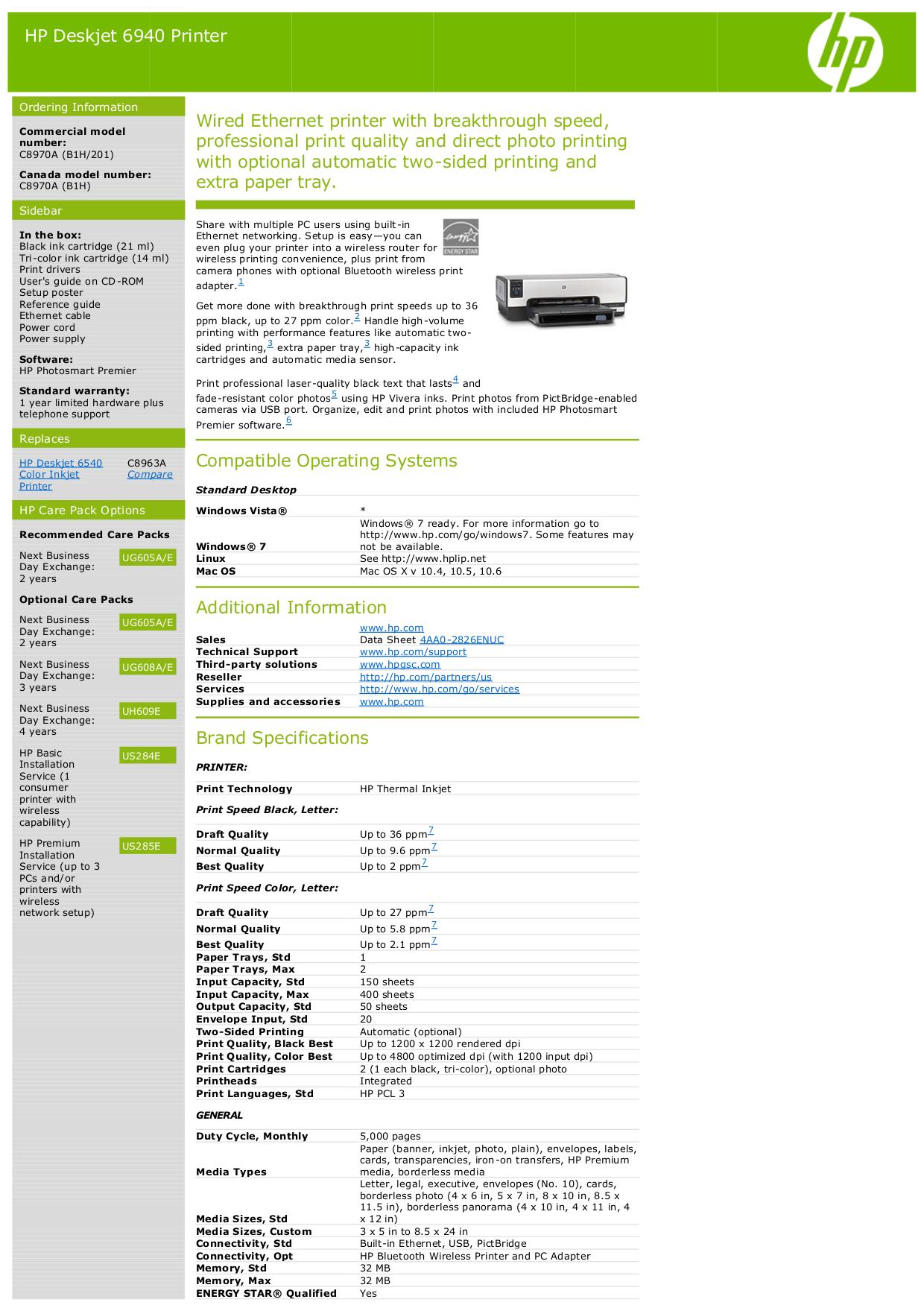 Hp 6540 printer download