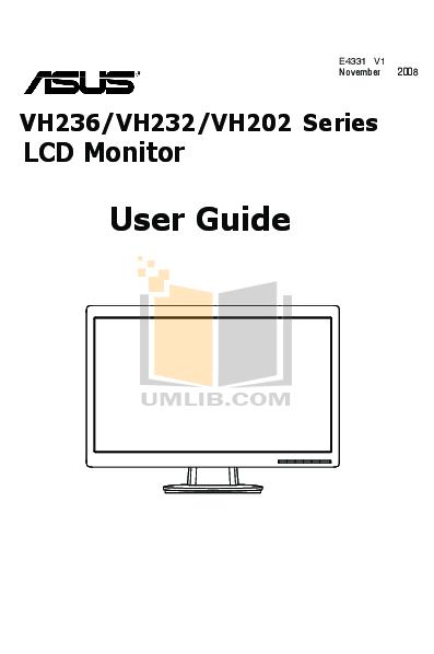 pdf for Asus Monitor VH232H manual