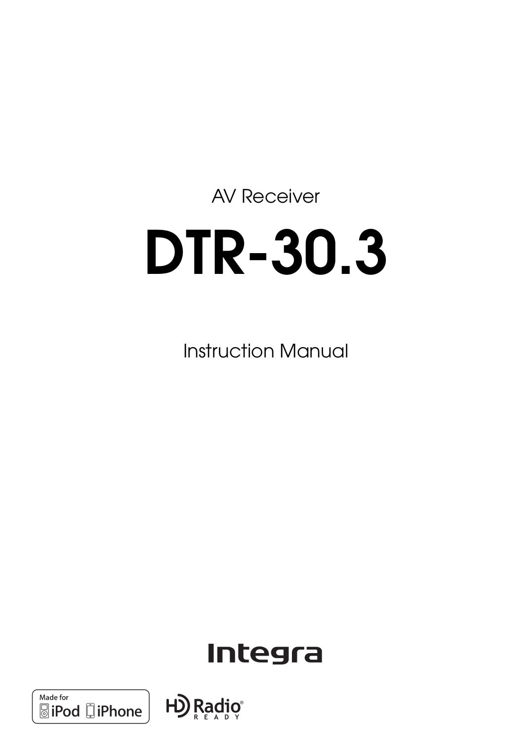 pdf for Integra Receiver DTR-5.1 manual