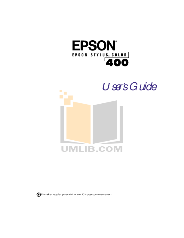 pdf for Epson Printer Stylus Color 400 manual