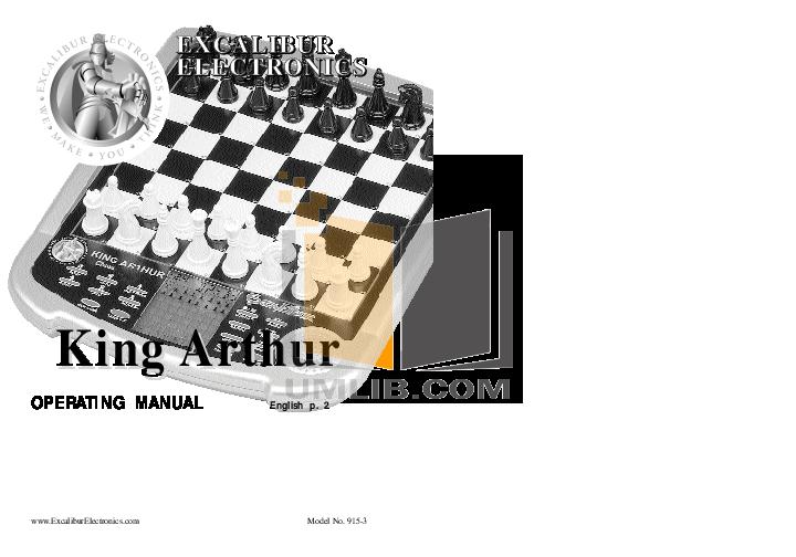 pdf for Excalibur Game Console 915-3 manual