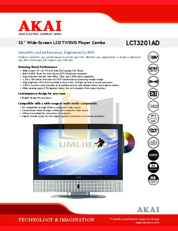 akai lcd manual free owners manual u2022 rh wordworksbysea com Panasonic DVD VCR Combo Manual Panasonic TV VCR DVD Combo