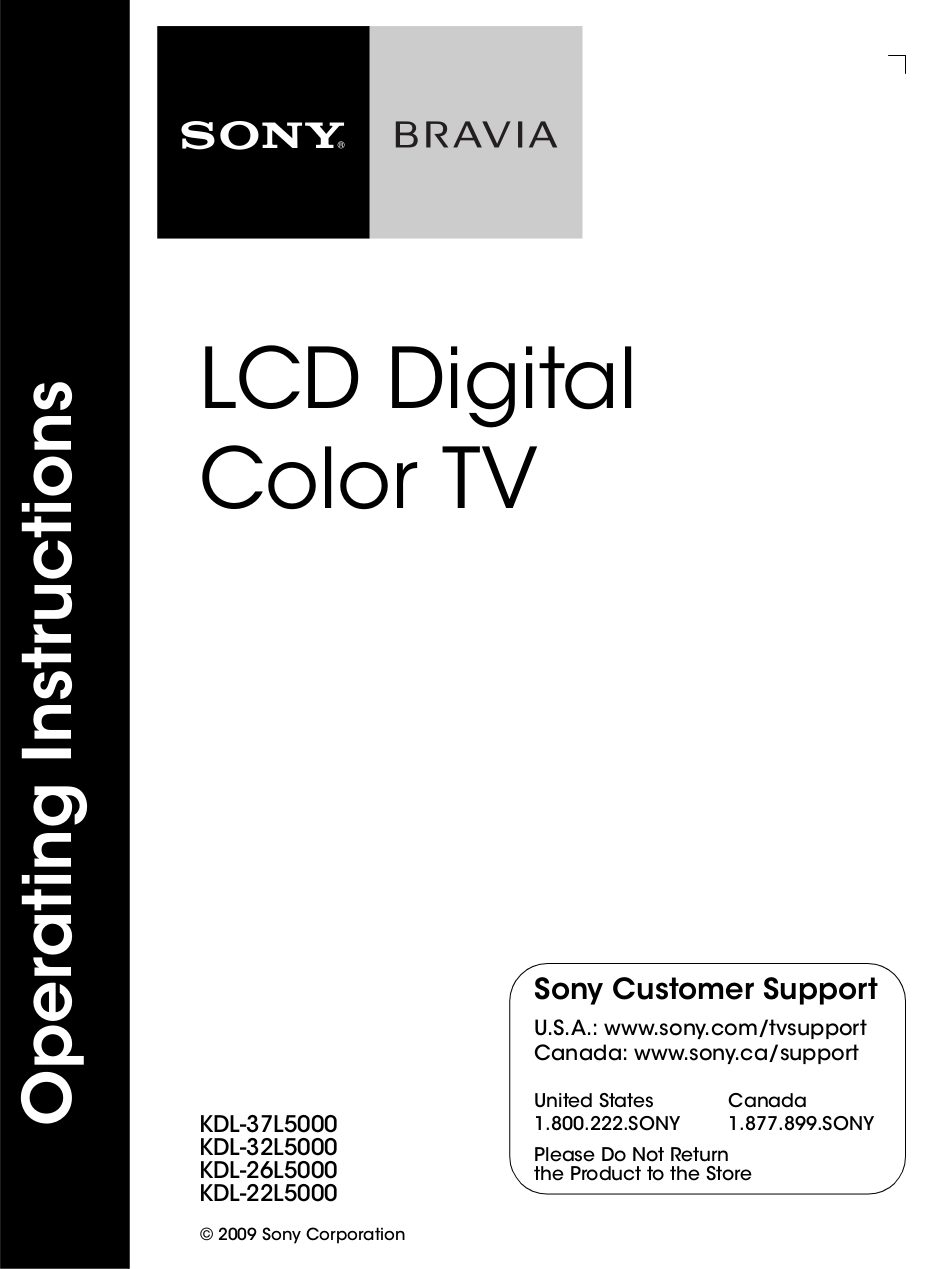download free pdf for sony bravia kdl 32l5000 tv manual rh umlib com Sony DAV HDX500 Manual Sony Owners ManualDownload