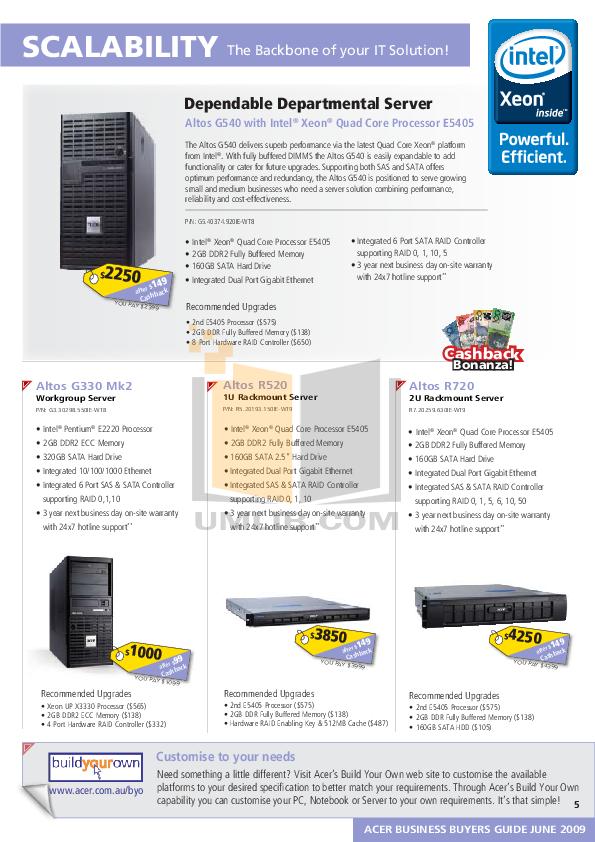 Acer Desktop Veriton M460 pdf page preview