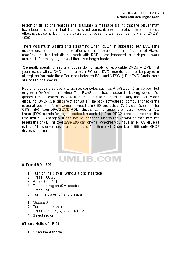 Curtis Portable DVD Player DVD8007C pdf page preview