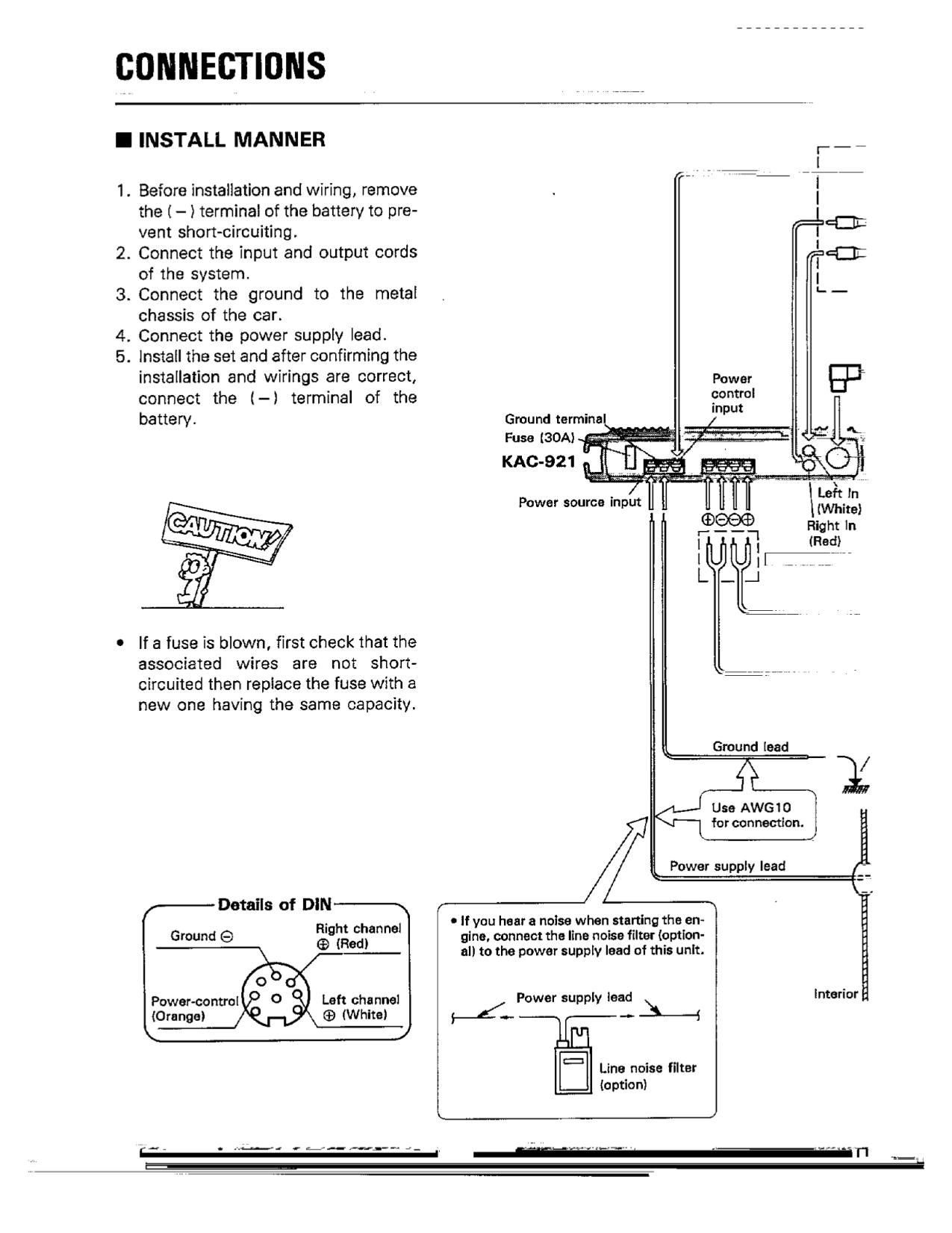 pdf manual for kenwood amp kac 921 basic electrical wiring diagrams kenwood amp kac 921 pdf page preview
