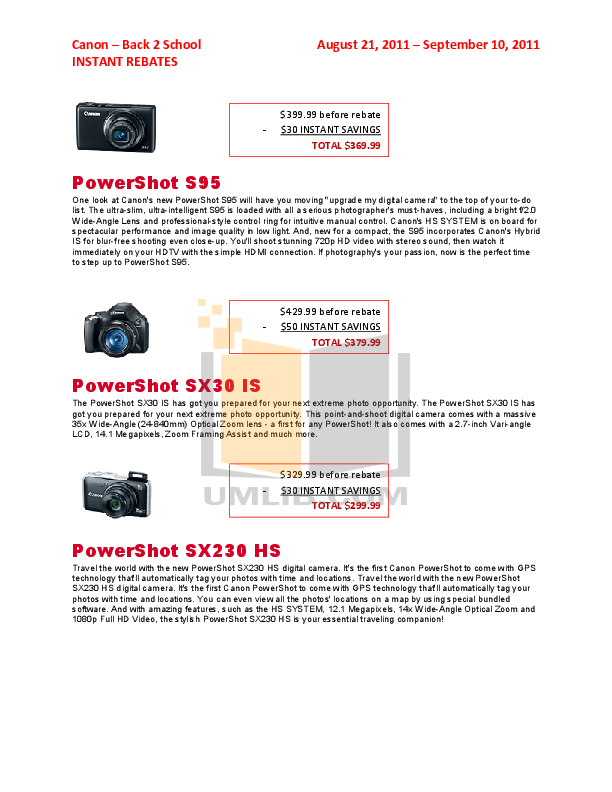 pdf for Canon Digital Camera Powershot S95 manual