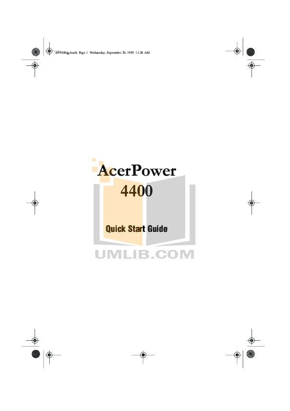 pdf for Acer Desktop AcerPower 6400 manual