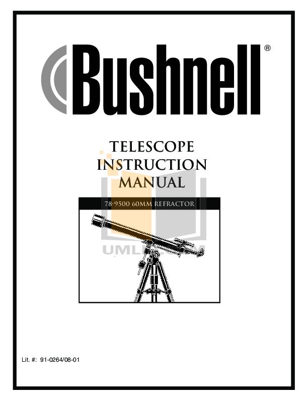 pdf for Bushnell Telescope 78-9500 manual