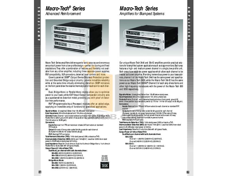 Crown Other AMB-5 IQ Mixers pdf page preview