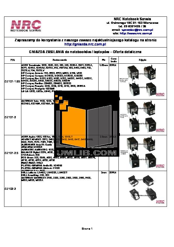 pdf for HP Laptop L2099XX manual