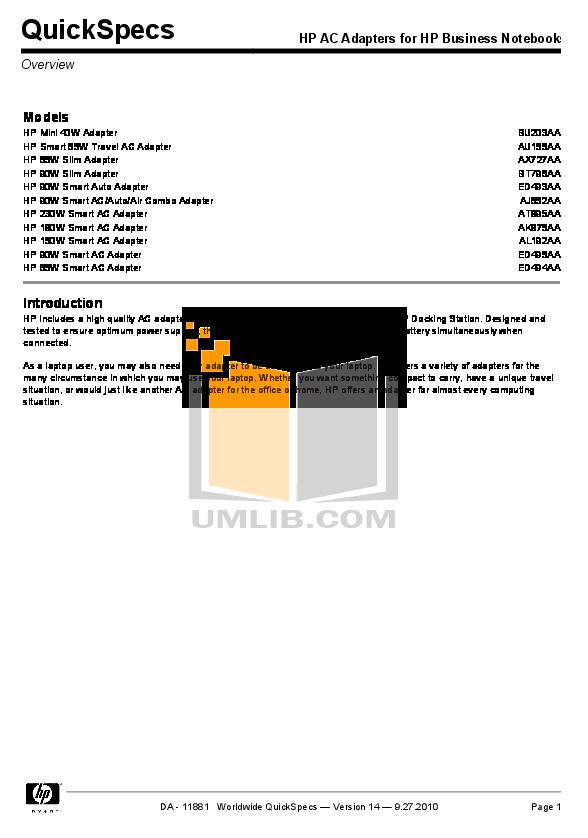 HP Laptop Compaq 6730b Pdf Page Preview