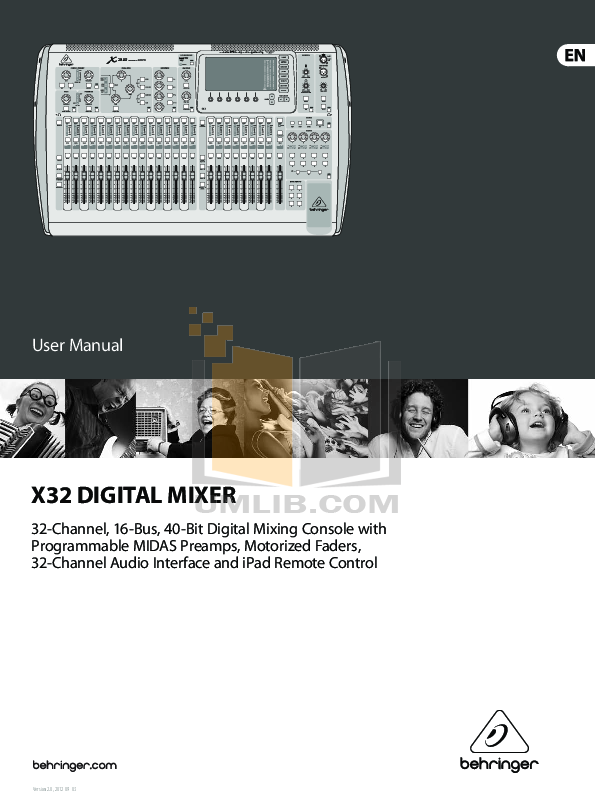 pdf for Behringer Amp GTX30 manual
