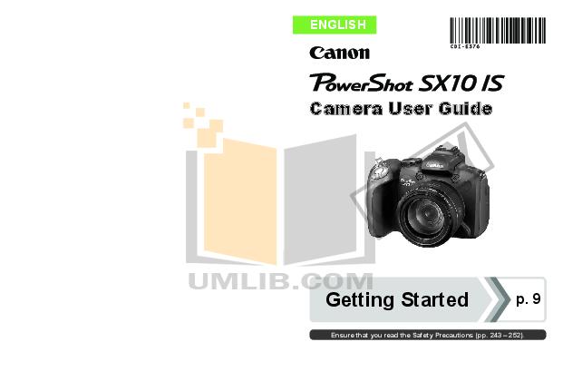 canon sx10 user manual