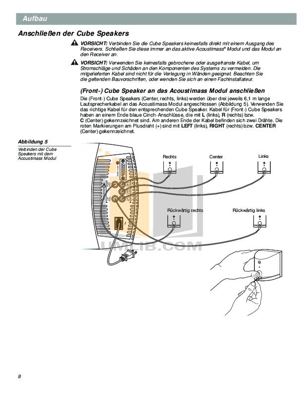 pdf manual for bose speaker system acoustimass 10 series iii. Black Bedroom Furniture Sets. Home Design Ideas
