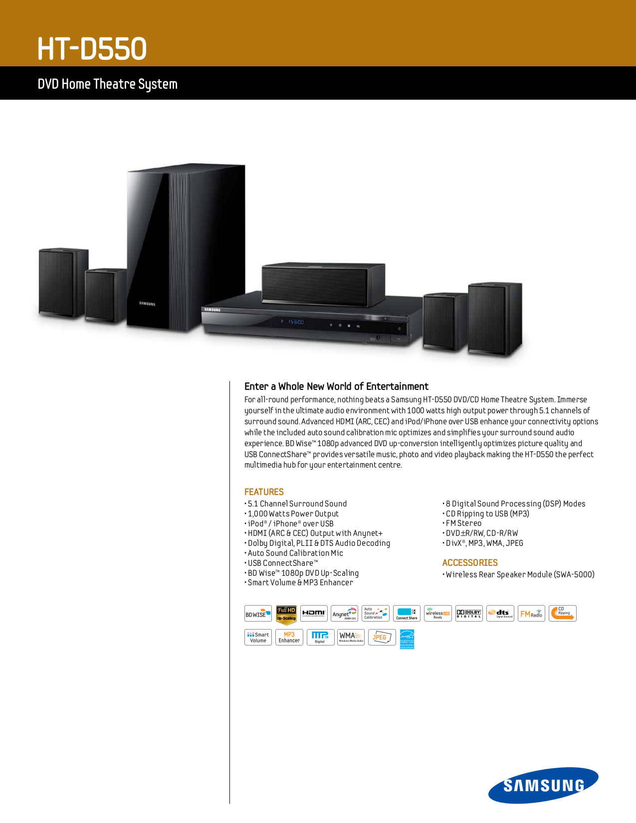 download free pdf for samsung ht d550 home theater manual rh umlib com Samsung D600 samsung ht-d550 manual