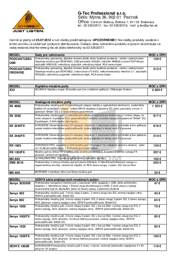 pdf for Behringer Speaker B415dsp manual