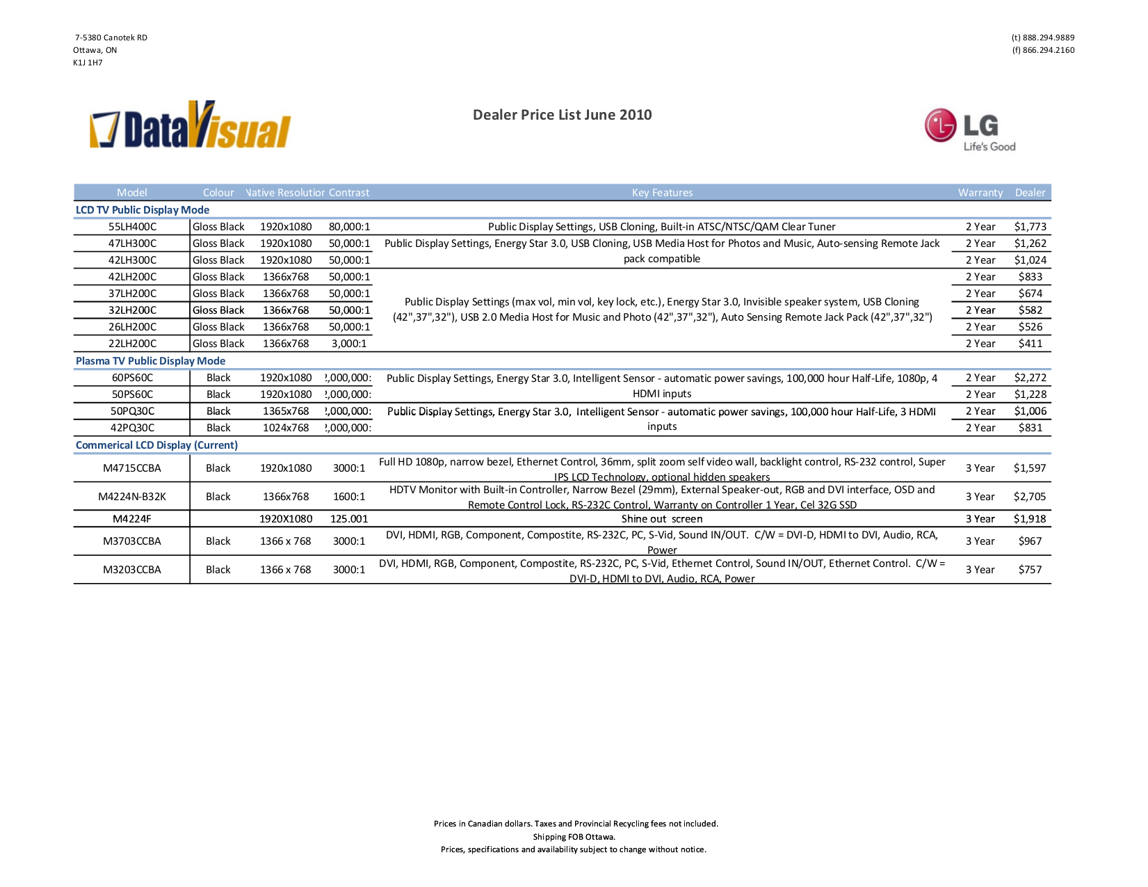pdf for LG Monitor W2042TQ manual