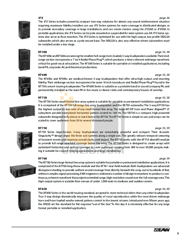 Eaw Speaker System FR300R pdf page preview