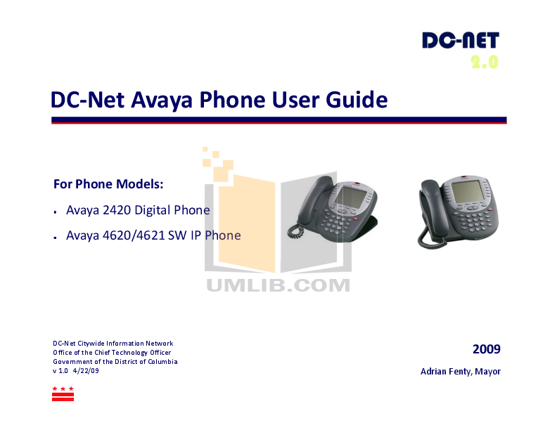 pdf for Avaya Telephone 4621 manual