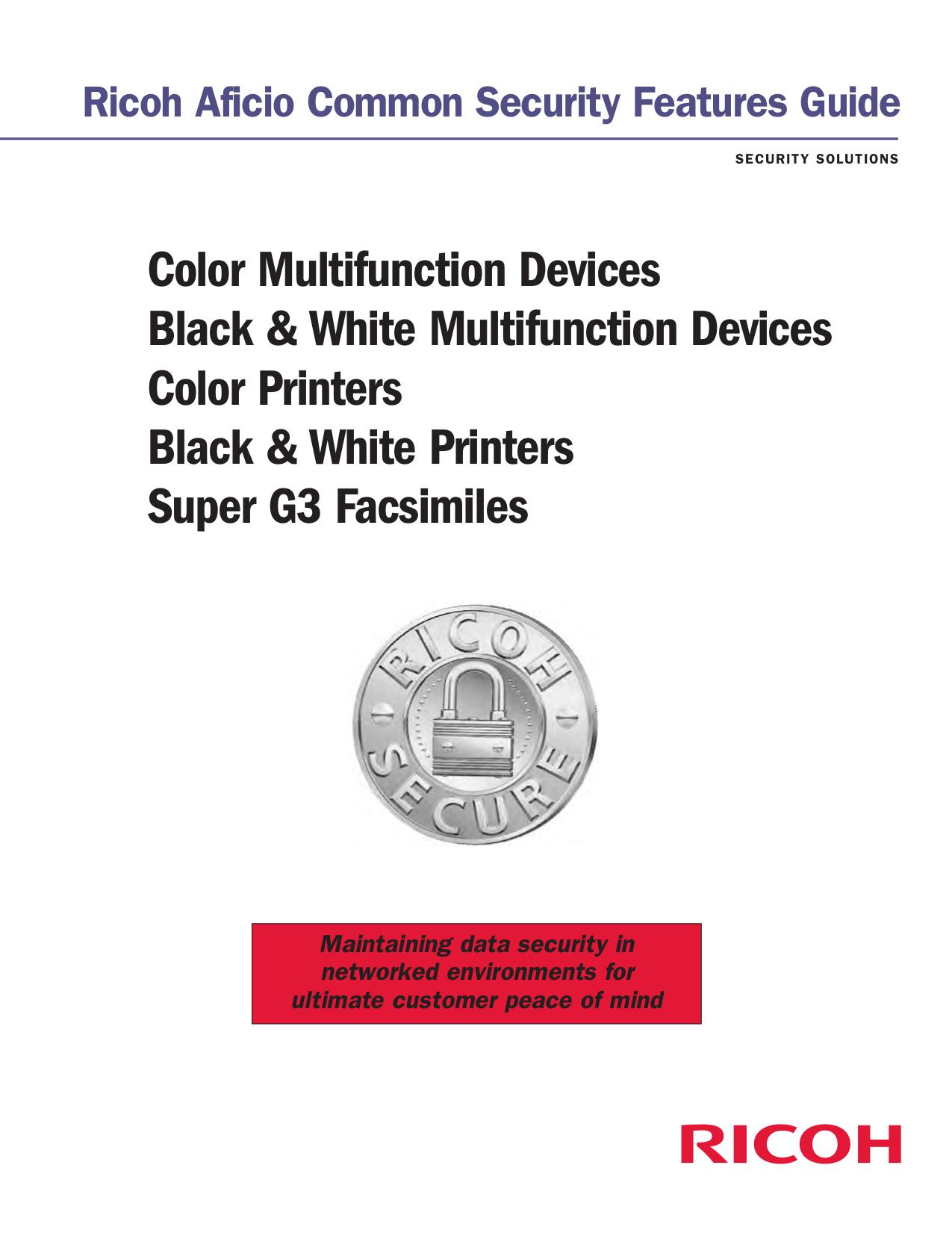pdf for Ricoh Multifunction Printer Aficio SP C222SF manual