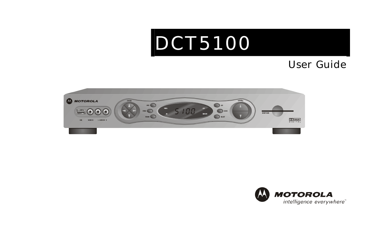download free pdf for motorola dct5100 receiver manual rh umlib com