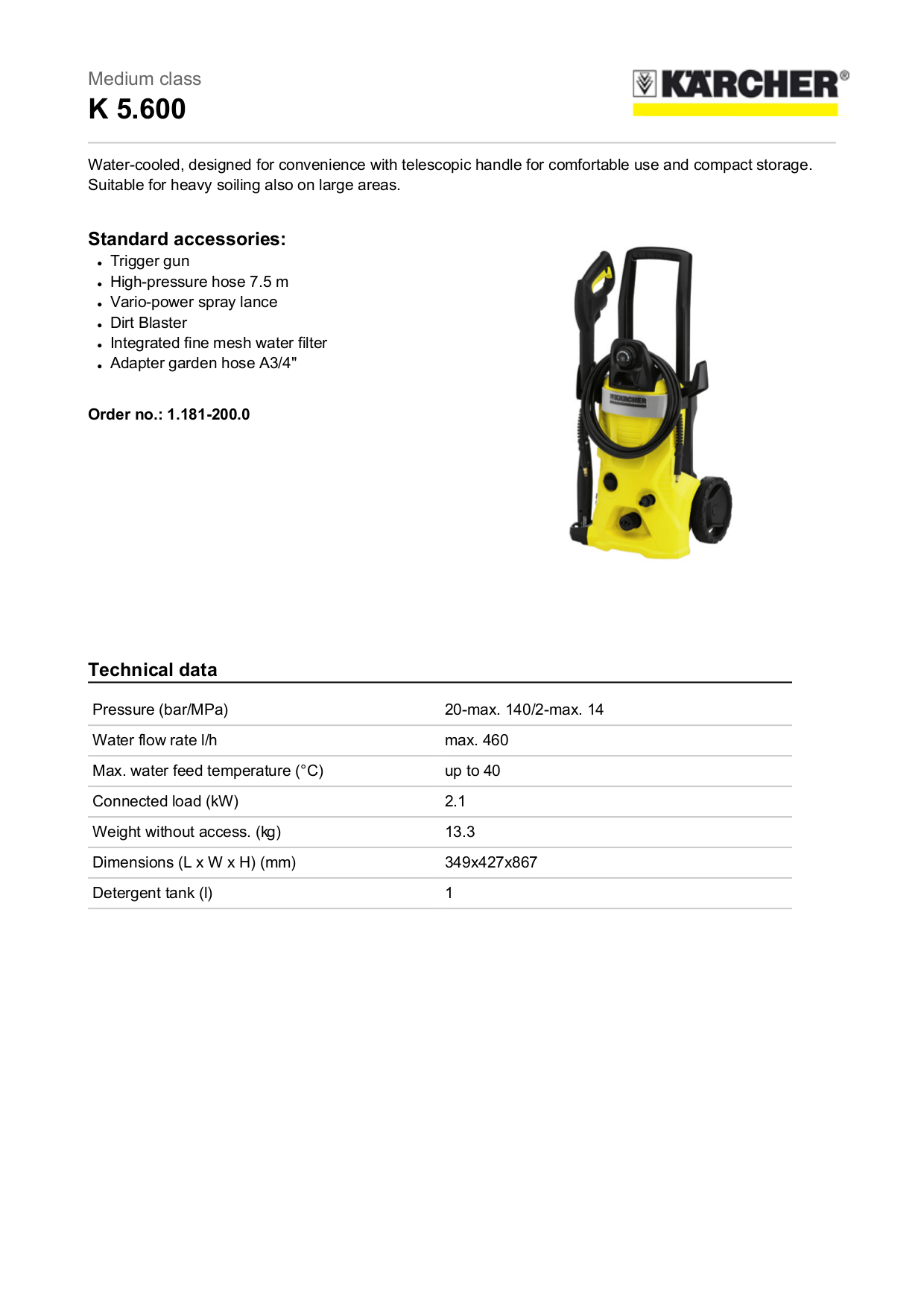 Download Free Pdf For Karcher K 460 Pressure Washers Other