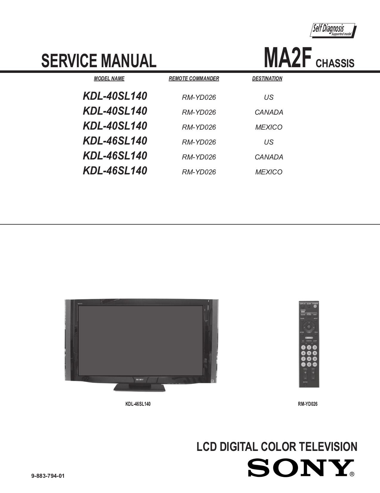sony lcd tv service manual pdf
