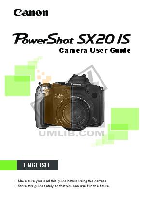 pdf for Canon Digital Camera Powershot SX20 IS manual