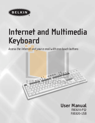 pdf for Belkin Keyboard F8E820-PS2 manual