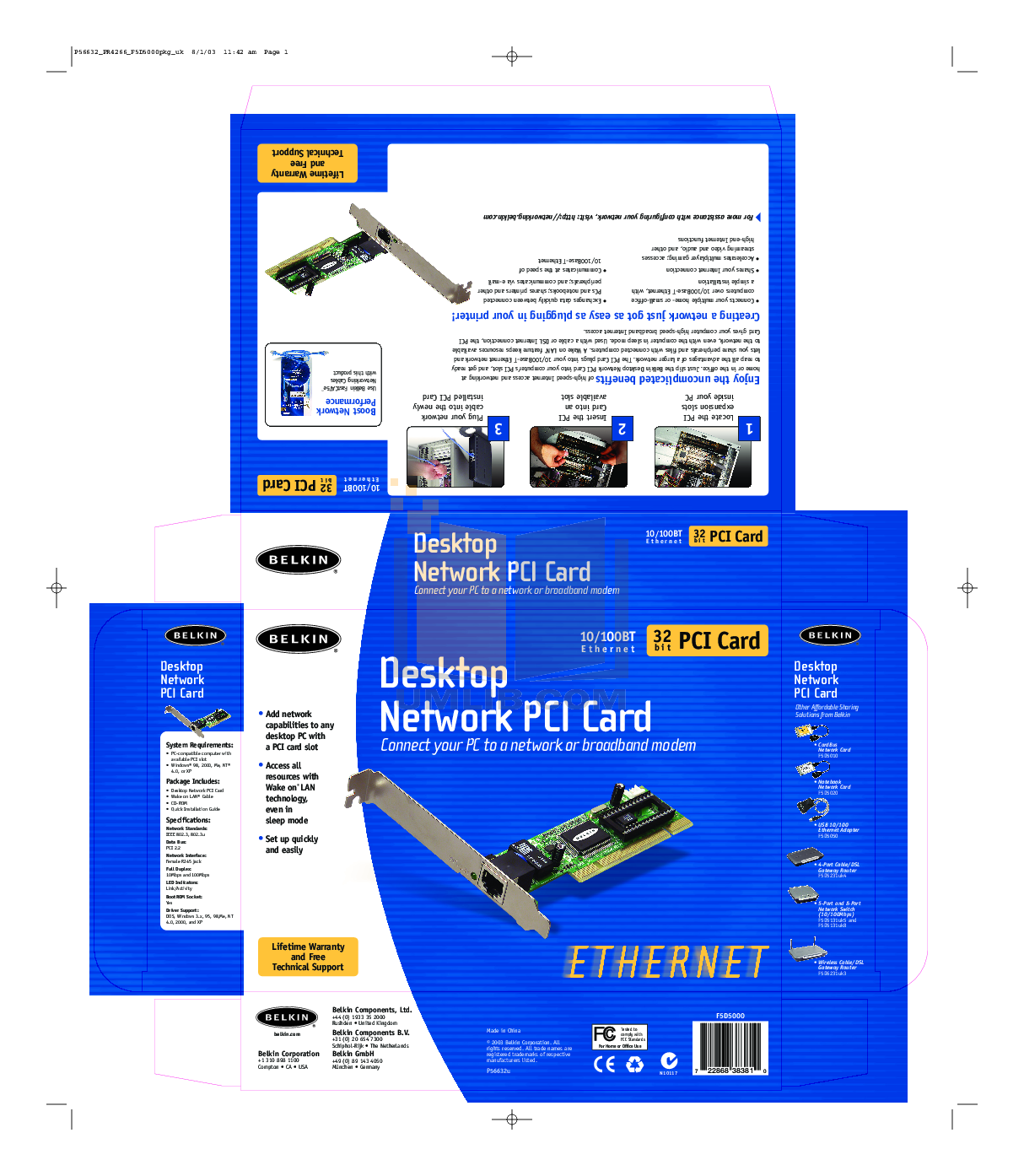 pdf for Belkin Router F5D5020 manual