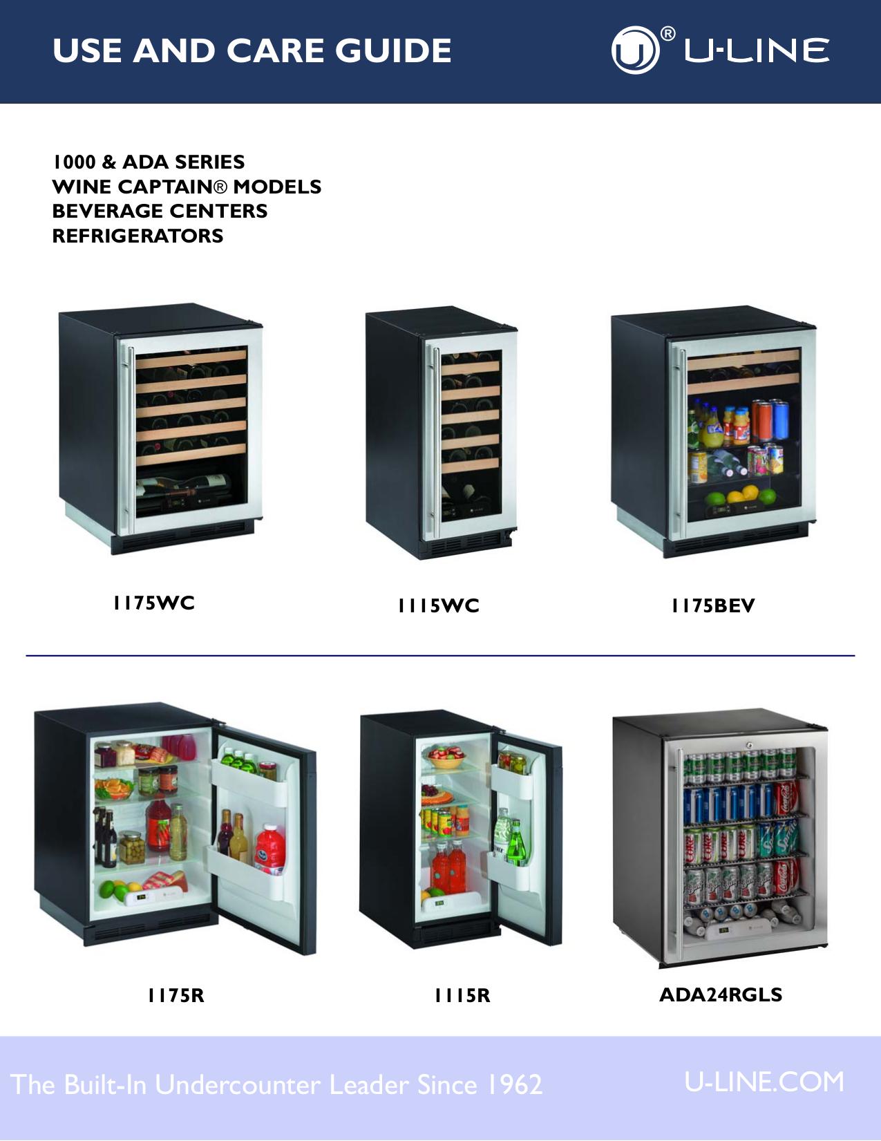 pdf for U-Line Refrigerator Origins 1175RS00 manual