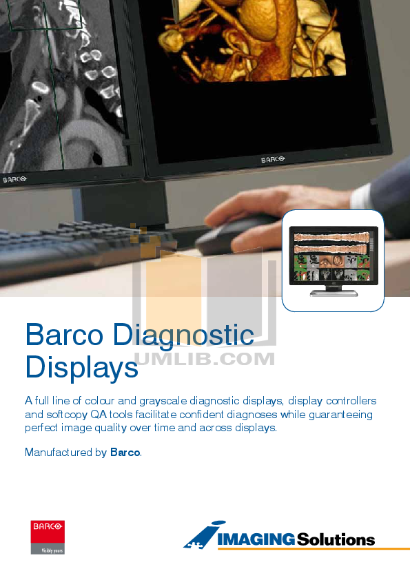 pdf for Barco Monitor Coronis 3MP manual