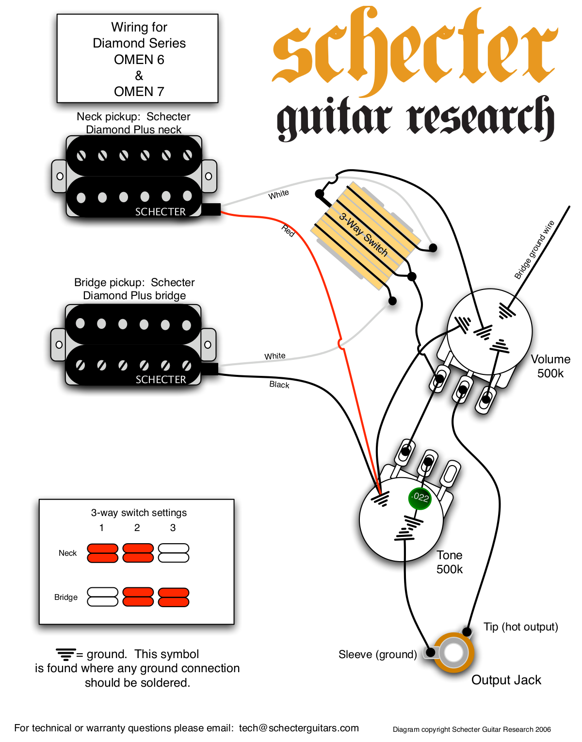 schecter_omen6_and omen7.pdf 0 download free pdf for schecter omen extreme 6 guitar manual Schecter Diamond Series Wiring Diagram at gsmportal.co