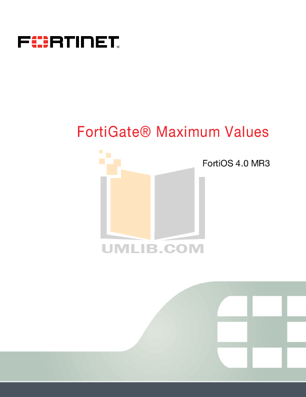 pdf for Fortinet Router FortiGate FortiGate-300A manual