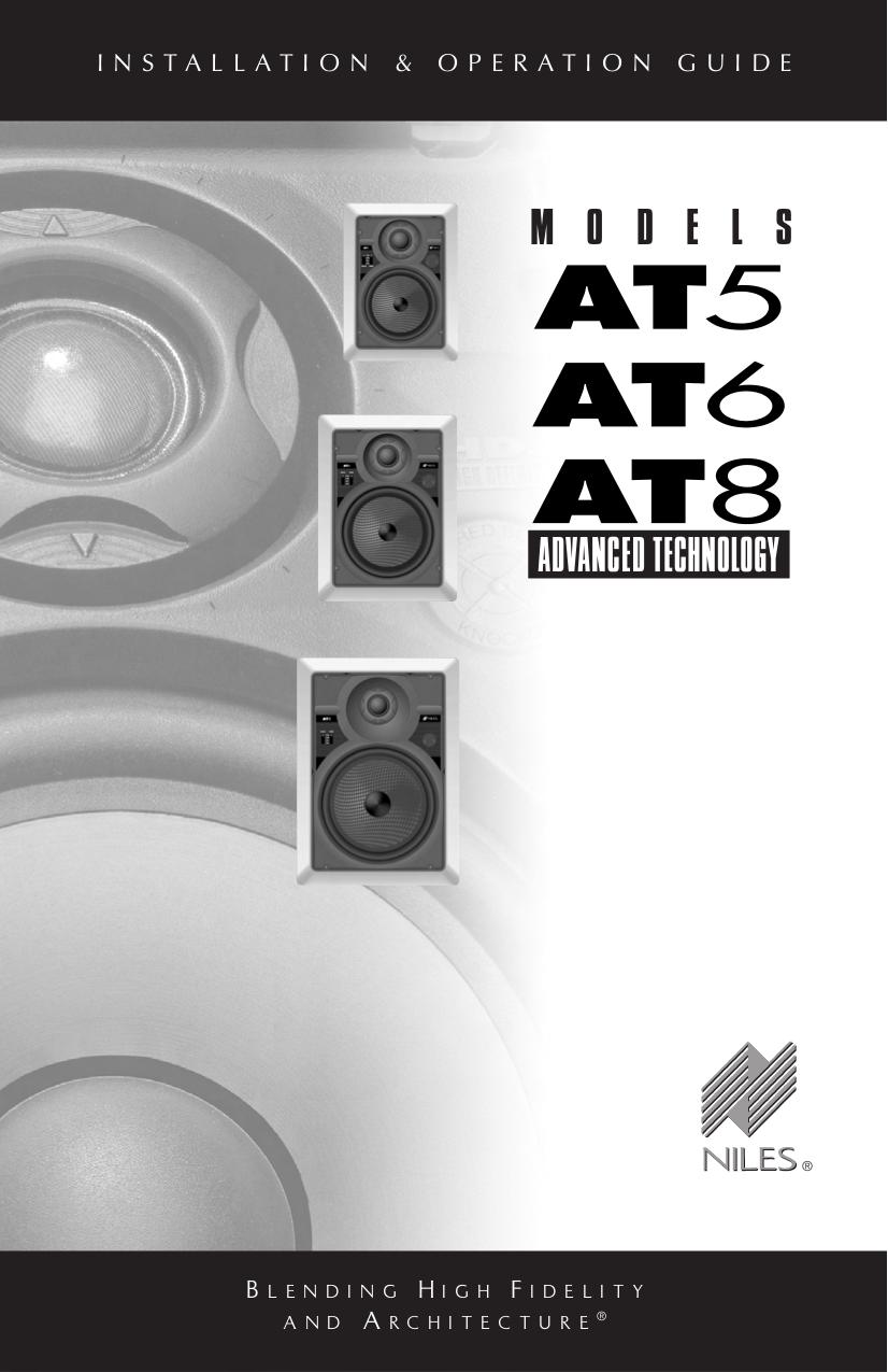 pdf for Niles Speaker AT5 manual