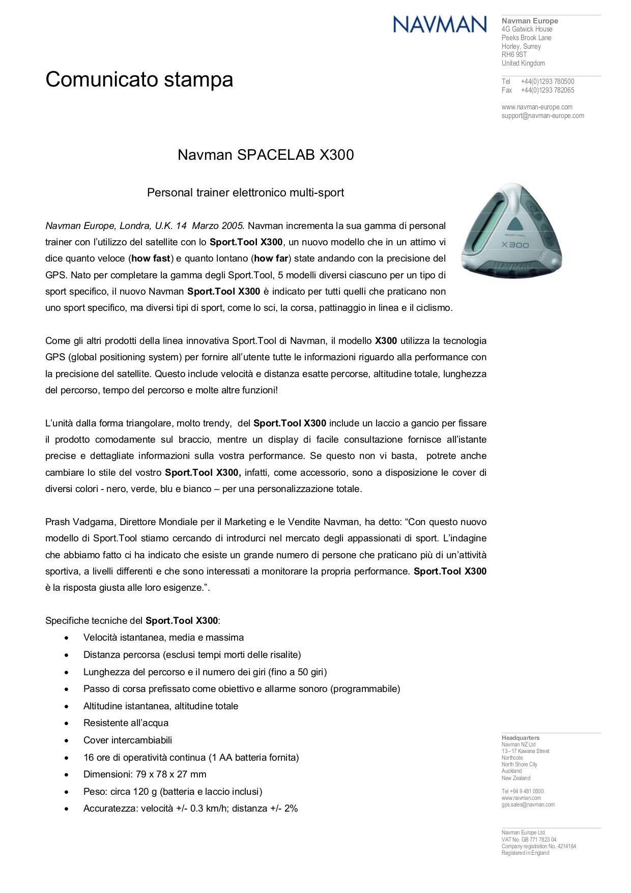pdf for Navman GPS X300 manual