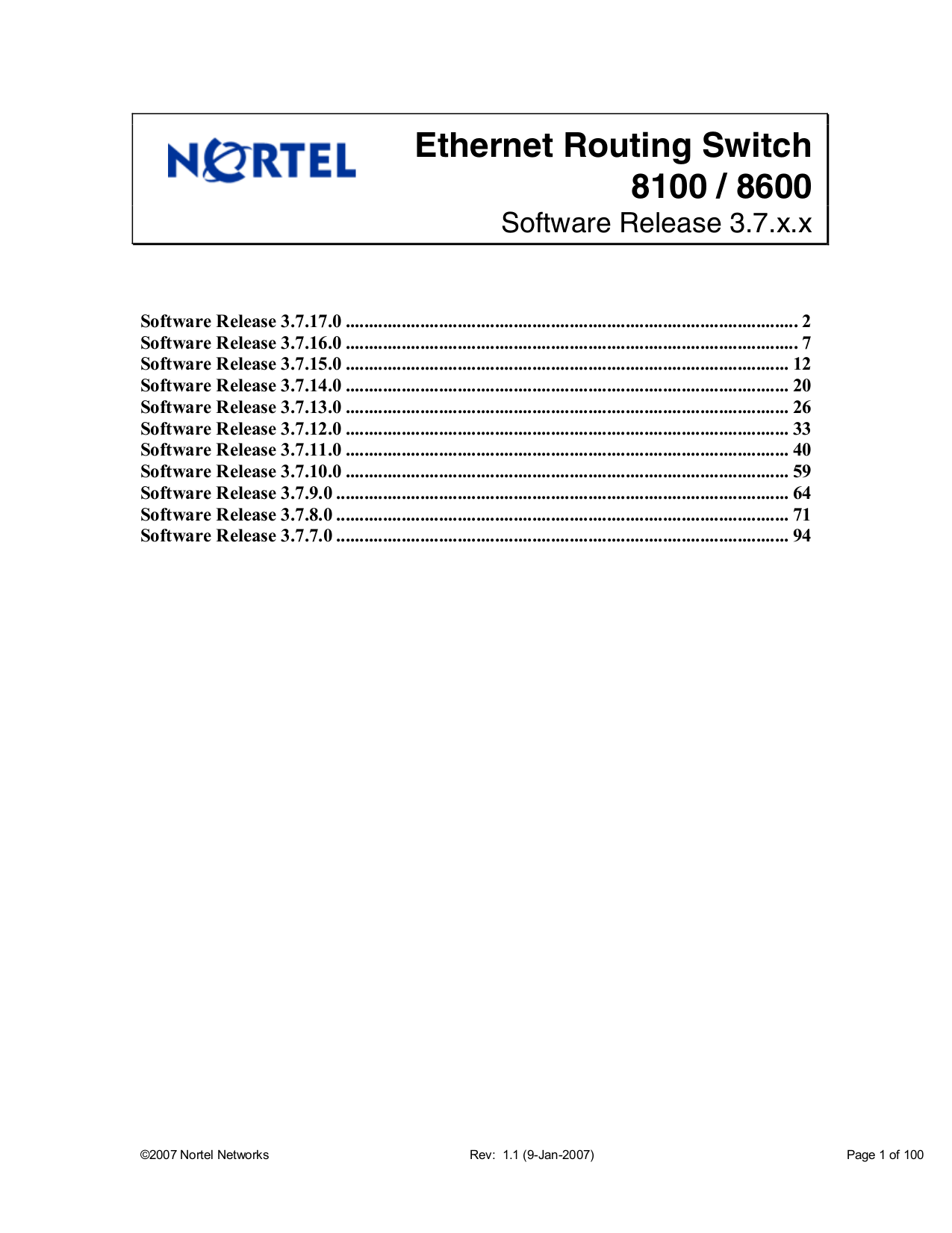 pdf for Nortel Switch Passport 1100 manual