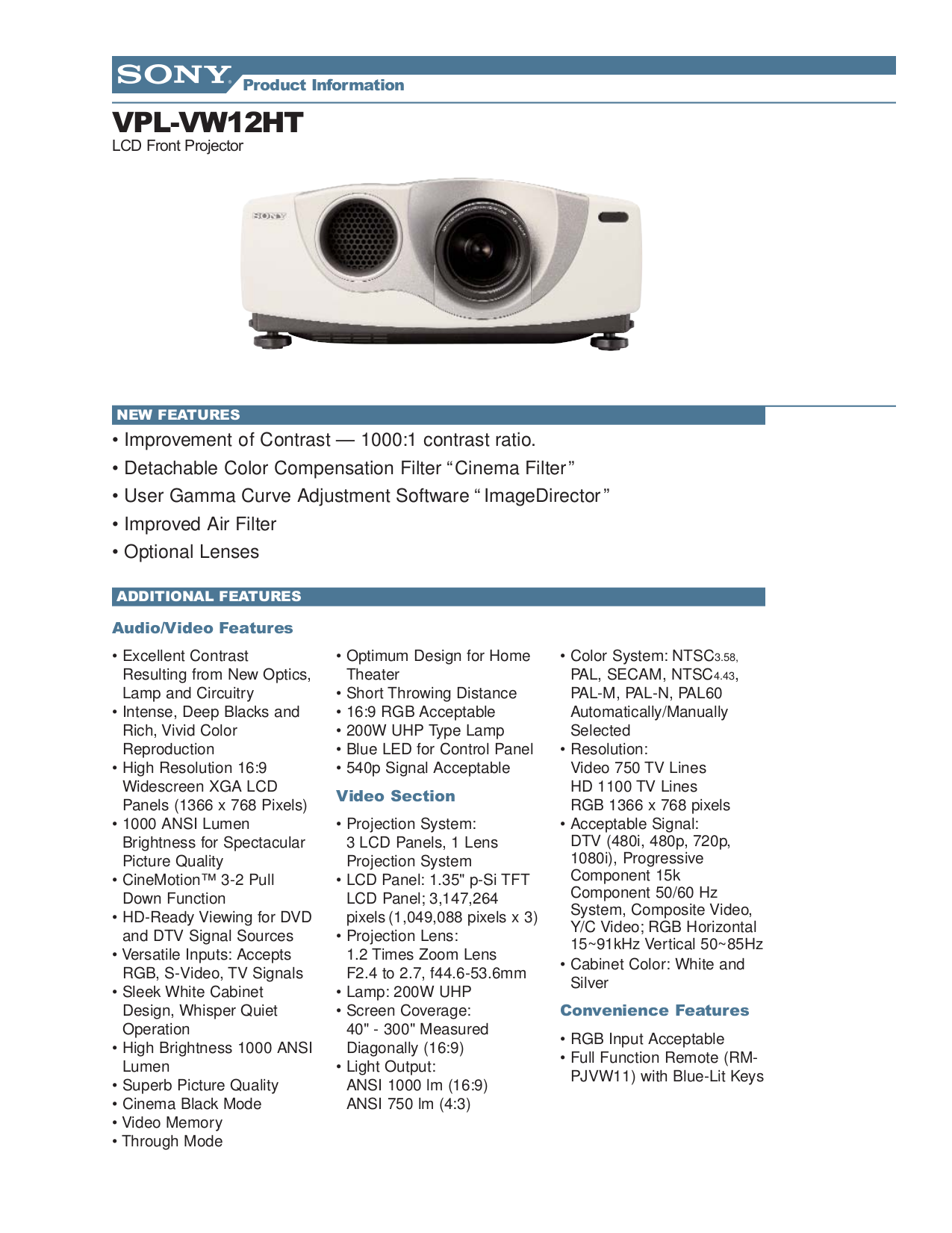 Sony projector manuals ebook pdf for sony projector vpl vw12ht manual fandeluxe Image collections
