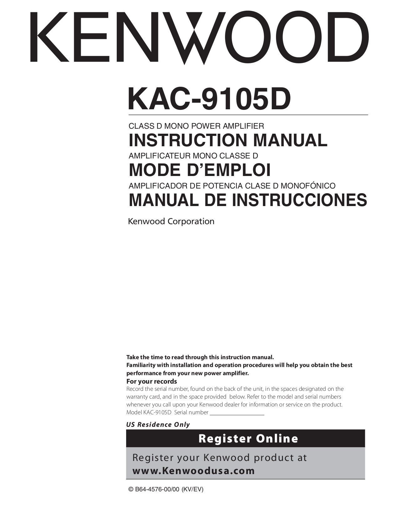 113KAC9105.PDF 0 download free pdf for kenwood kac 9105d car amplifier manual kenwood kac 9104d wiring diagram at cos-gaming.co