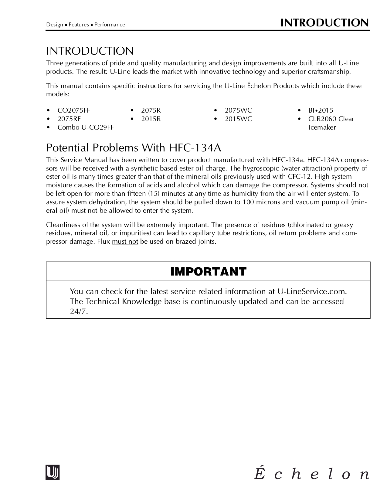 U-Line Refrigerator Echelon 2075R pdf page preview