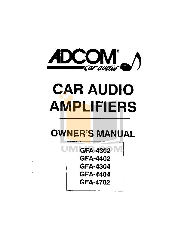 download free pdf for adcom gfa 4404 car amplifier manual rh umlib com Adcom Amplifier Old School Car Adcom GFA 4702
