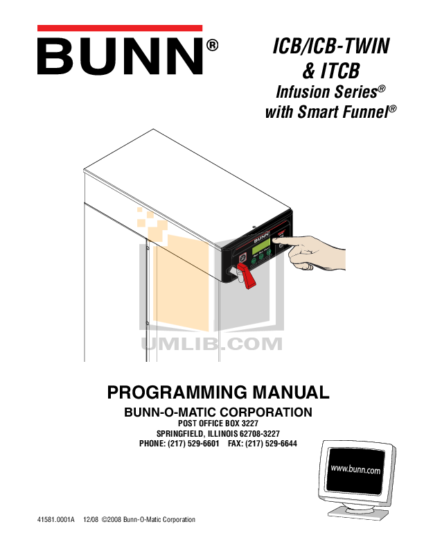 Bunn Coffee Maker Stx Manual : Download free pdf for Bunn CDBC Coffee Maker manual