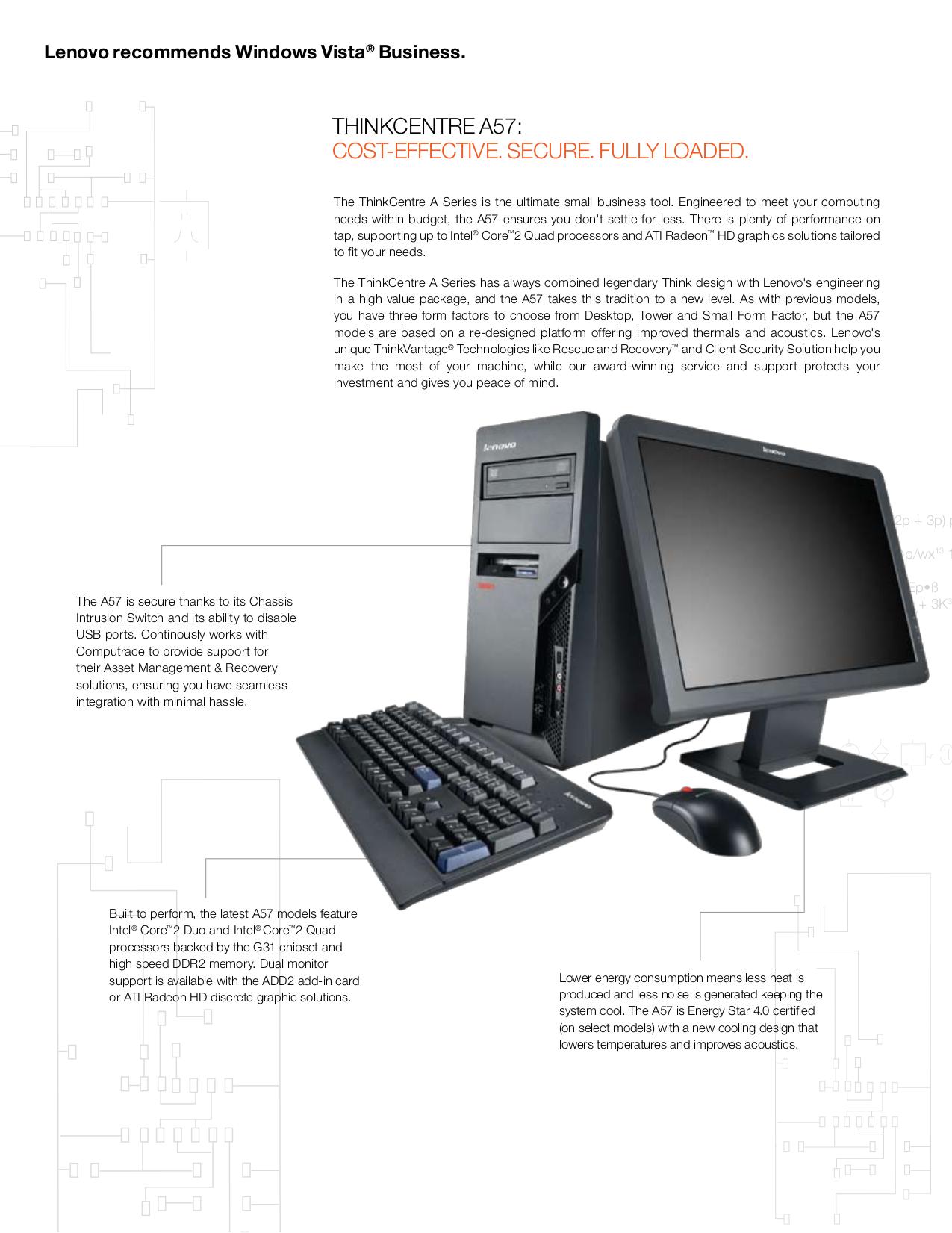 Lenovo Desktop ThinkCentre A57 9708 pdf page preview