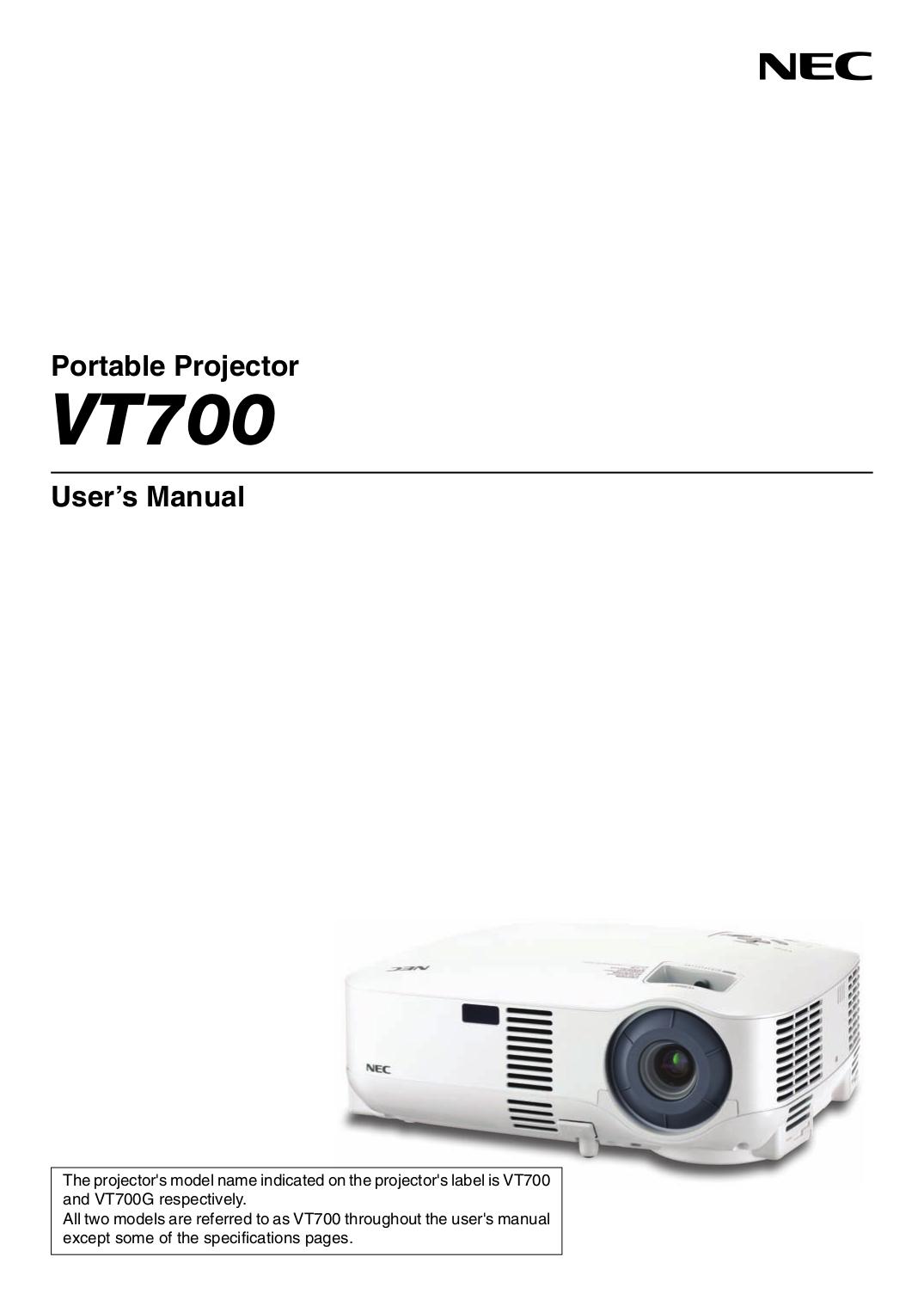 download free pdf for nec vt700 projector manual rh umlib com Ceiling Plate for NEC Projector NEC VT700 Reset