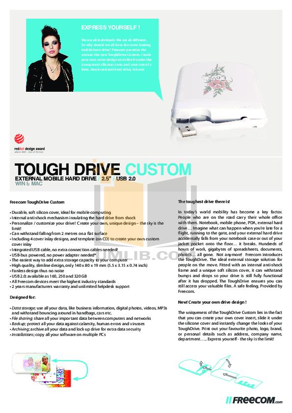 pdf for Freecom Storage ToughDrive Custom manual