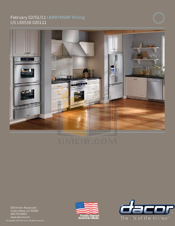 pdf for Dacor Refrigerator Epicure OF24 manual