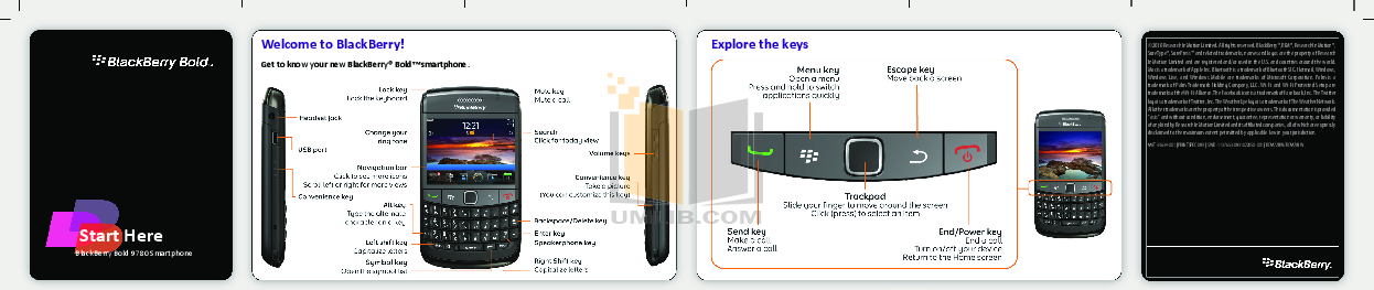 pdf for Blackberry Cell Phone Bold 9780 manual